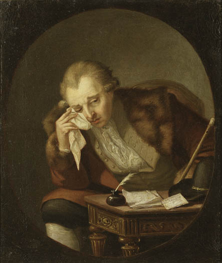Carl Michael Bellman in tears. Painting by Pehr Hilleström 1790, National Museum of Fine Arts, Stockholm