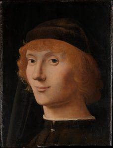 Antonello da Messina, Portrait d'un jeune homme, huile sur bois, v. 1470 Legs Benjamin Altman, 1913 Metropolitan Museum of Art www.metmuseum.org